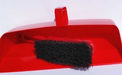 Red Dust Pan and Brush