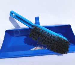 Dust pan and Brush Blue